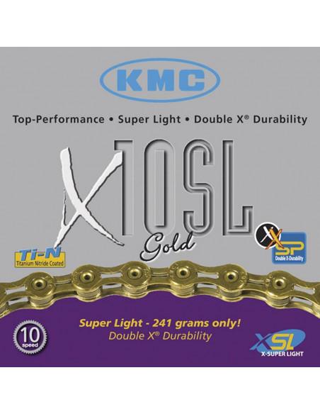 Cadena KMC X10 SL GOLD 10 velocidades