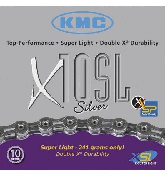 Cadena KMC X10 SL SILVER