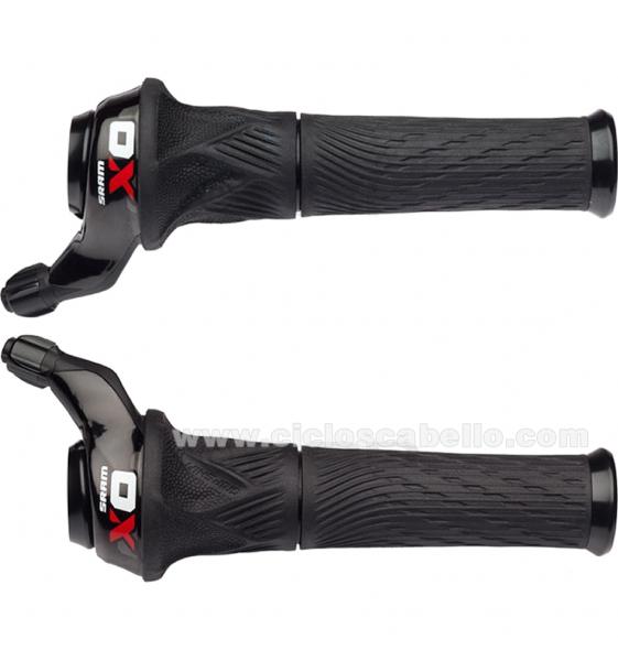 Juego mandos de cambio SRAM X0 Grip Shift 2x10v o 3x10v