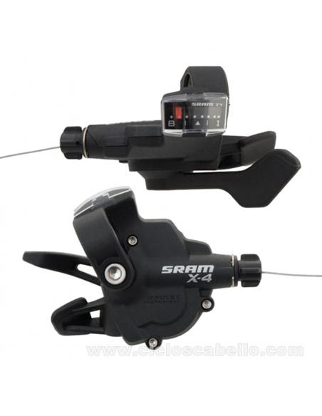 Mandos de cambio SRAM X4 Trigger 8v Kit