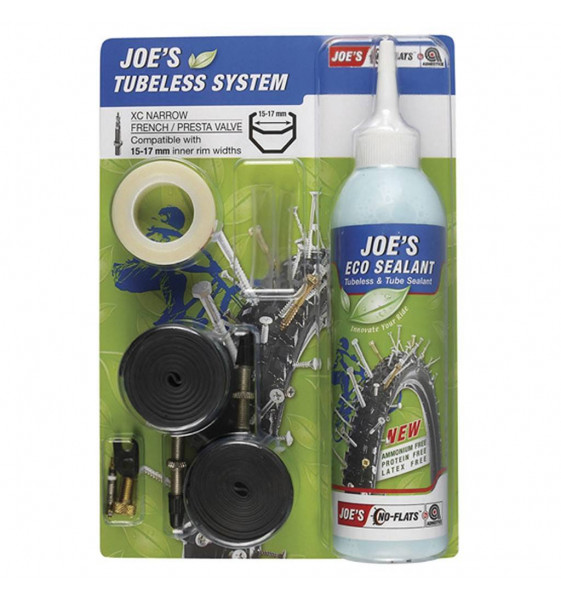 Kit Antipinchazos JOE´S ECO SEALANT 15-17mm Tubeless