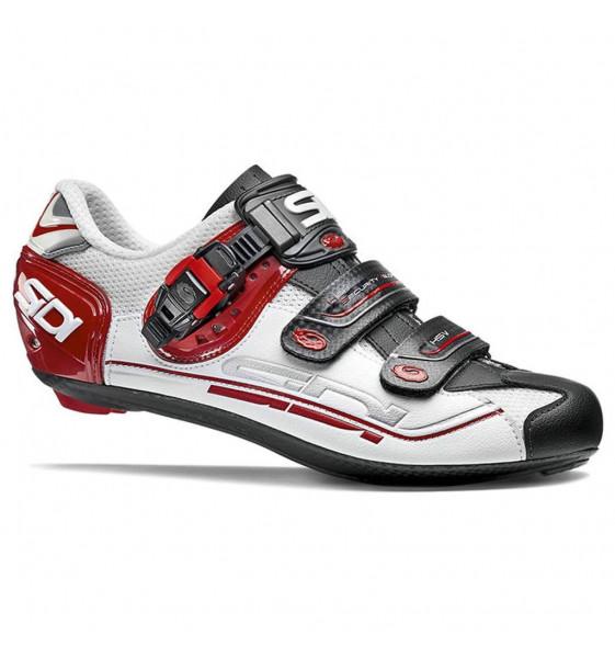 Zapatillas de carretera SIDI GENIUS 7 Blanco Negro Rojo