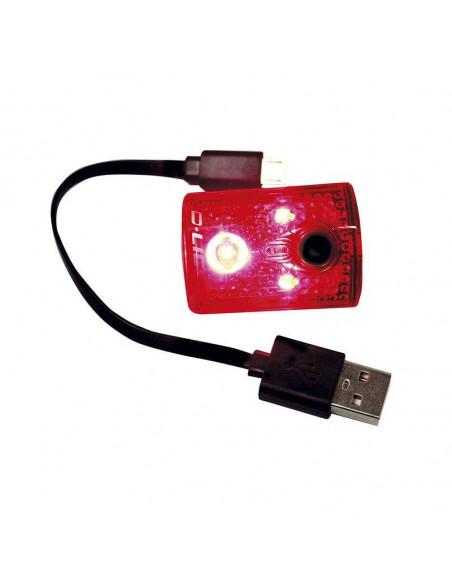 Faro Trasero CHANCE 3 Leds 4 Funciones USB
