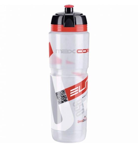 Bidon ELITE Maxicorsa Transparente Rojo Bio 950 ML