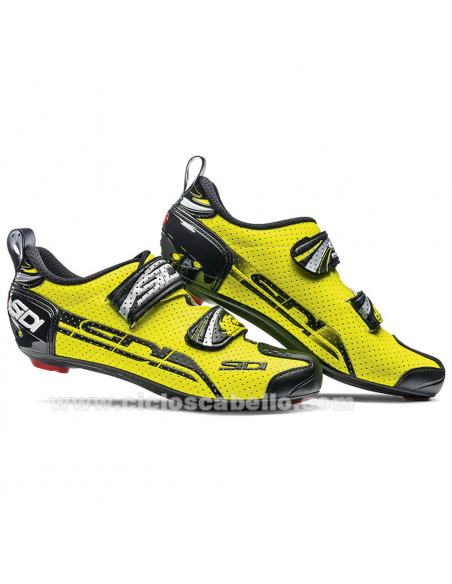 Zapatillas Sidi  T4 Air Carbon Triatlon Amarillo