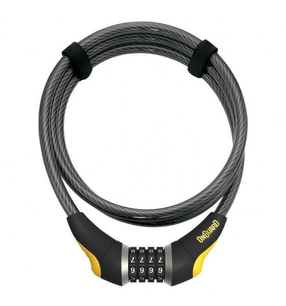 Candado Cable ONGUARD Akita Combinación 185 CM x 8 MM