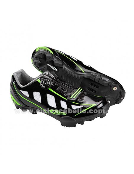 Zapatillas MTB GES Rider Negro Verde