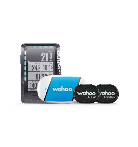 Pack Ciclocomputador Wahoo Elemnt con TICKR y sensores velocidad y cadencia