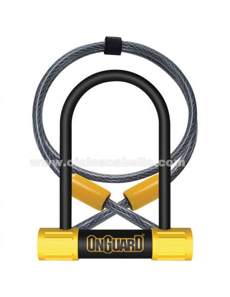 Candado a la horquilla Onguard Bulldog DT con cable 90x140mm