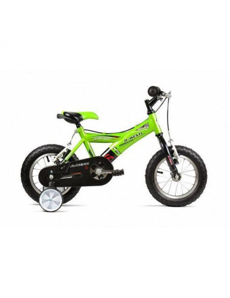 "Bicicleta Infantil JL-Wenti -Y- Verde/Negro 12"""