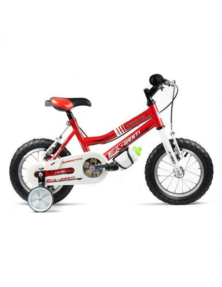 "Bicicleta Infantil JL-Wenti Rojo/Blanco 12"""