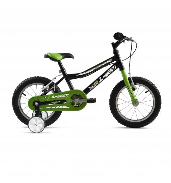 "Bicicleta Infantil JL-Wenti Verde/Negro 14"""