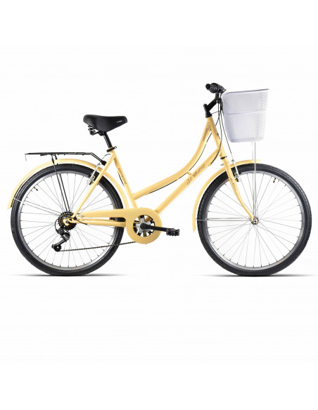 "Bicicleta JL-Wenti CTB Color Crema CLASSIC 28"""