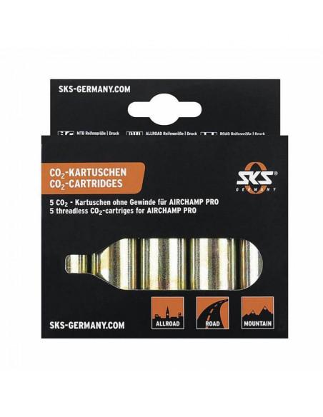 Pack 5 cartuchos CO2 SKS Airchap PRO 16gr