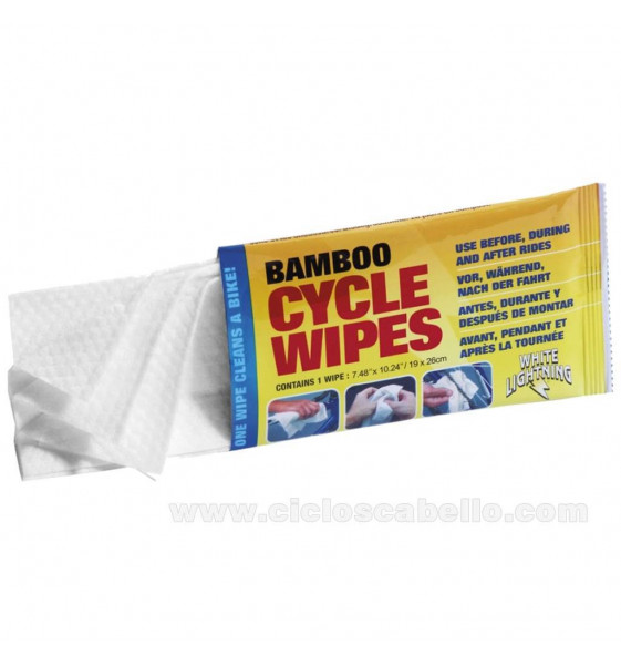 Bamboo Cycle Wipes Serviettes de...