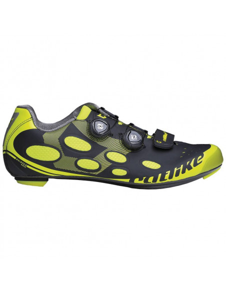 Zapatillas Catlike Whisper Road Negro Amarillo Flúor