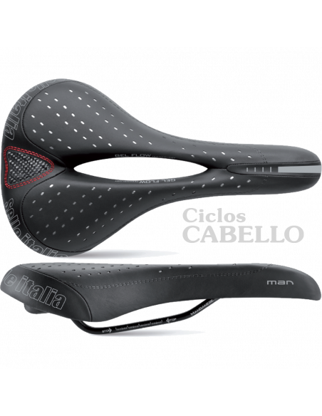 Sillin Selle Italia MAN GEL FLOW Negro