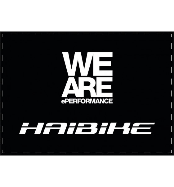 Tapis Haibike 85X120Cm Noir/Blanc