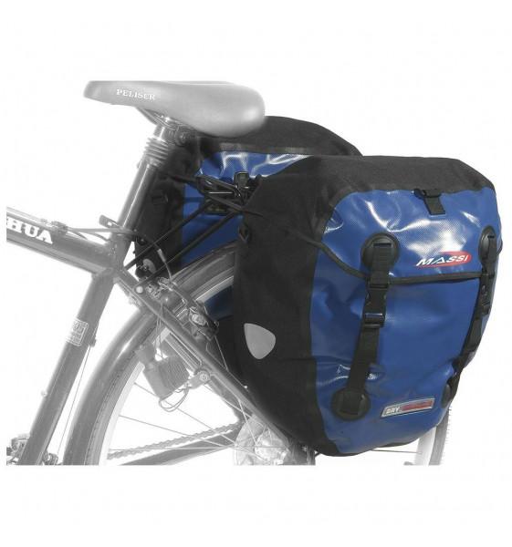 Alforja Massi CM-227 Doble 100% Waterproof Azul